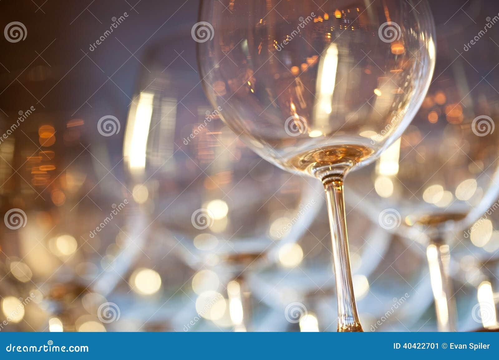 Golden Wine Glasses
