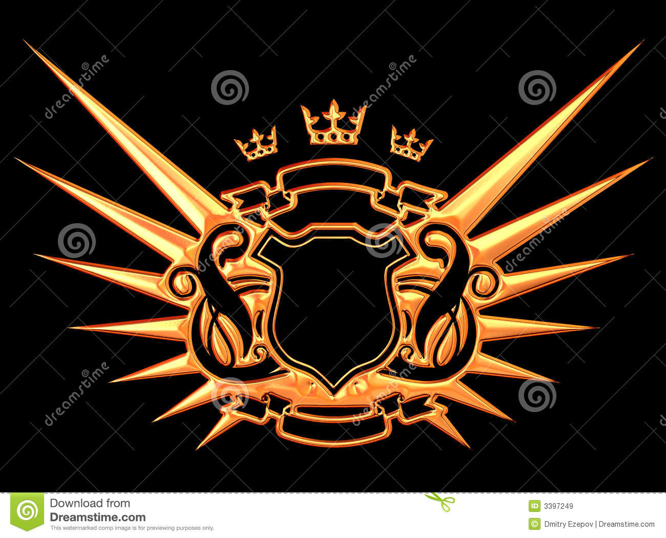 golden wings royalty free stock images