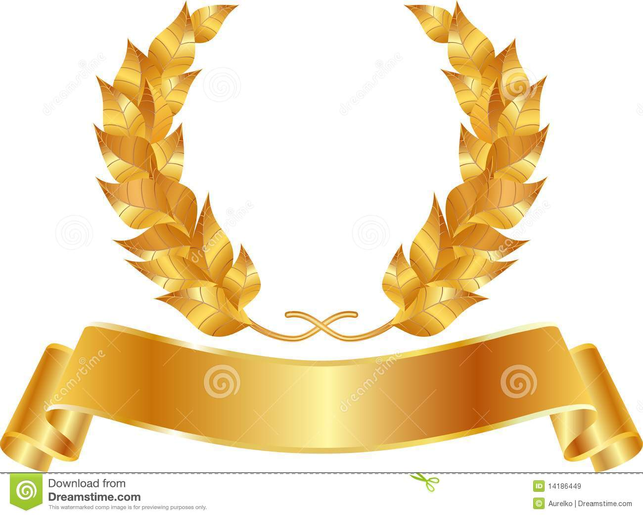 Golden Wreath Royalty Free Stock Images Image 14186449