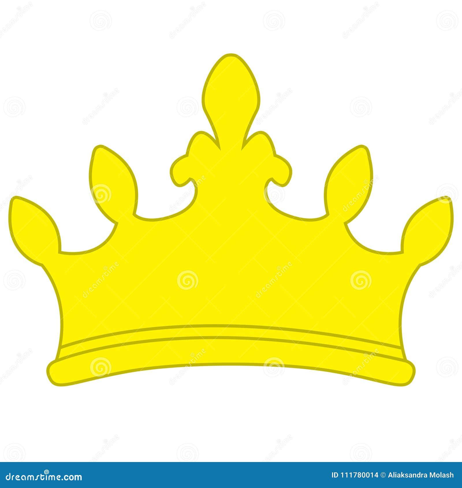 Golden yellow crown icon symbol