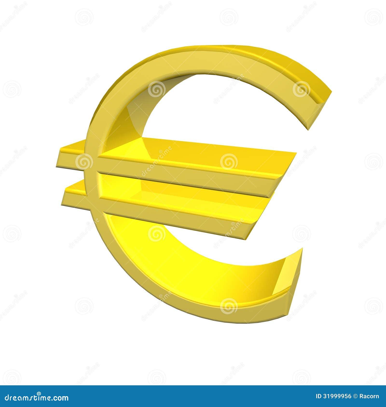 Golden Yellow Euro Symbol Stock Illustration Illustration Of
