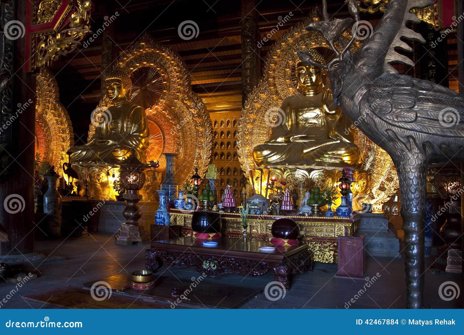 Goldene Buddha-Bilder