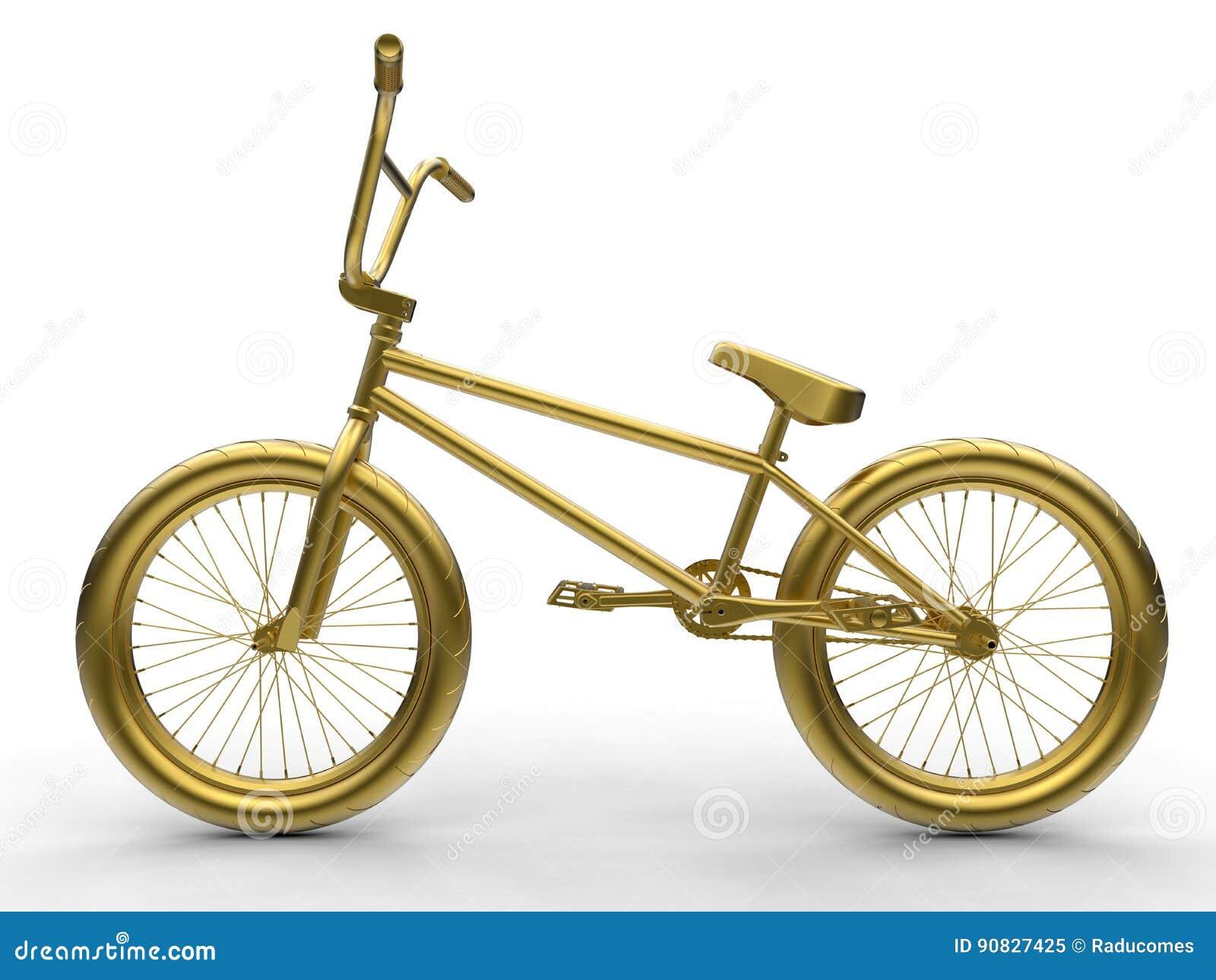 Goldene Fahrradillustration Stock Abbildung - Illustration von ...