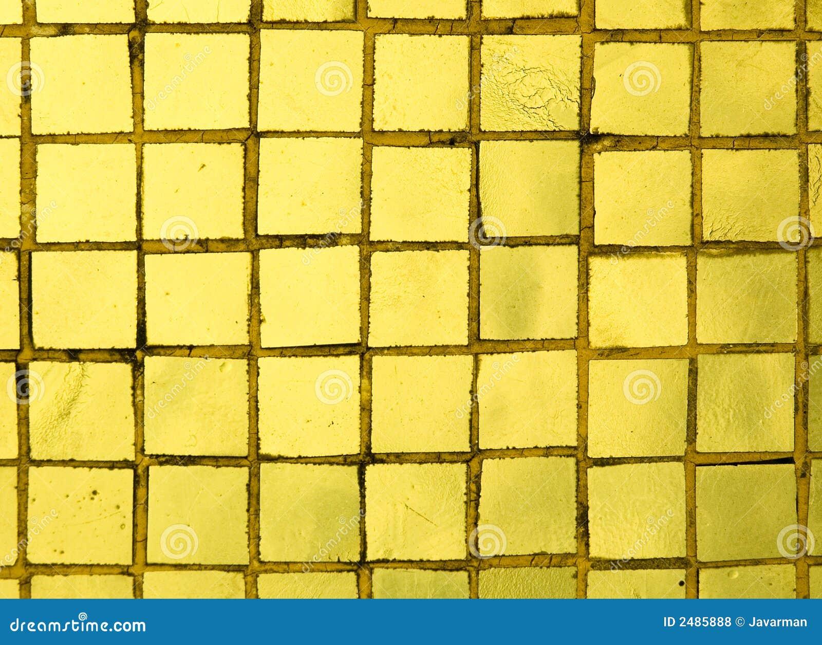 Goldene Fliesen stockfoto. Bild von dekoration, dach, quadrat - 2485888