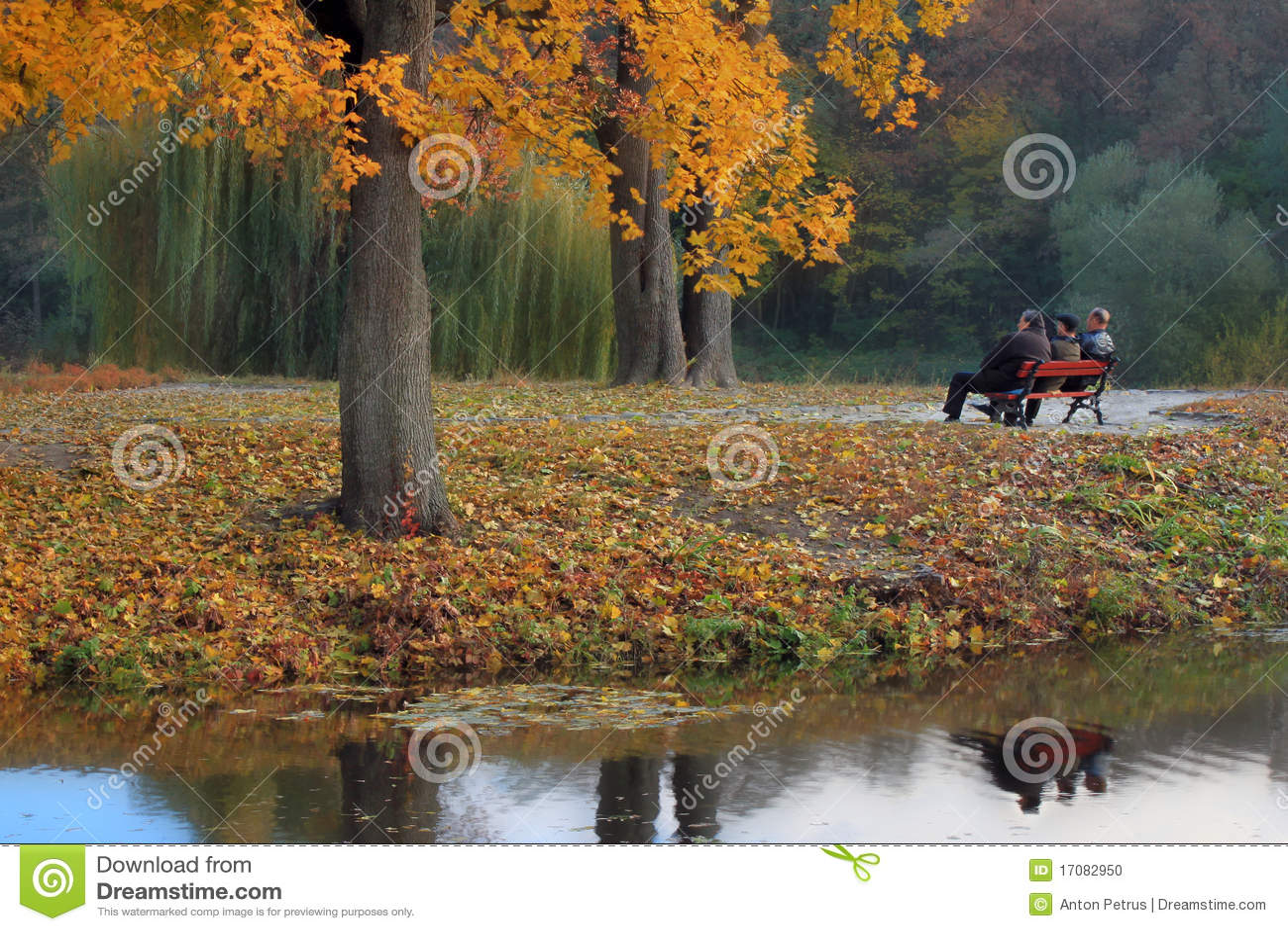 Goldene Herbstältere personen