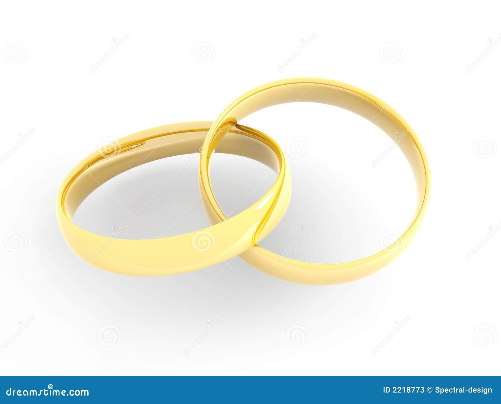 Goldene Hochzeits Ringe Stock Abbildung Illustration Von Nuptial