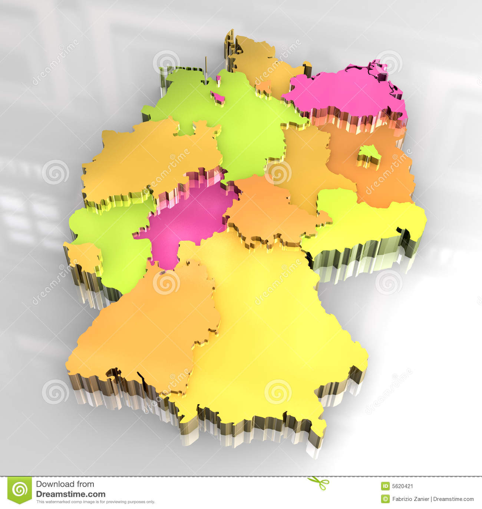 deutschlandkarte 3d kostenlos Goldene Karte 3d Von Deutschland Stock Abbildung   Illustration