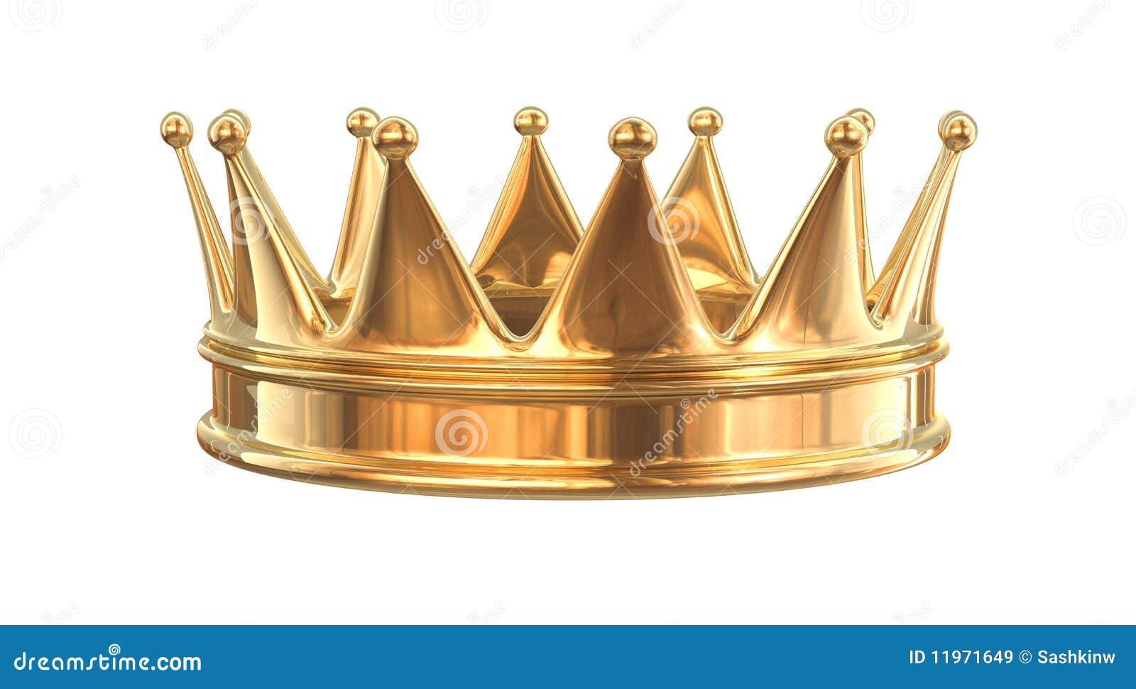 Goldene Krone stock abbildung. Illustration von luxus