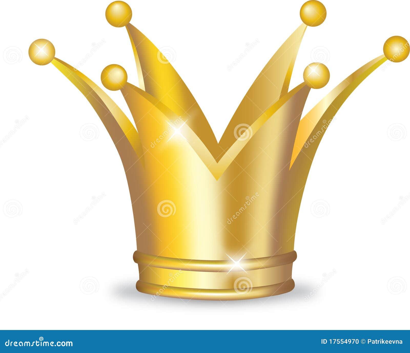 Goldene Krone Vektor Abbildung Illustration Von