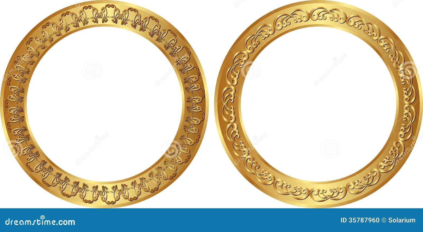 Goldene Rahmen vektor abbildung. Illustration von gold - 35787960