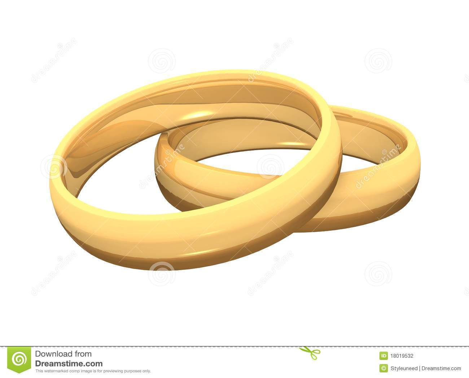goldene ringe 3d f r hochzeit 05 stockfotografie bild 18019532. Black Bedroom Furniture Sets. Home Design Ideas