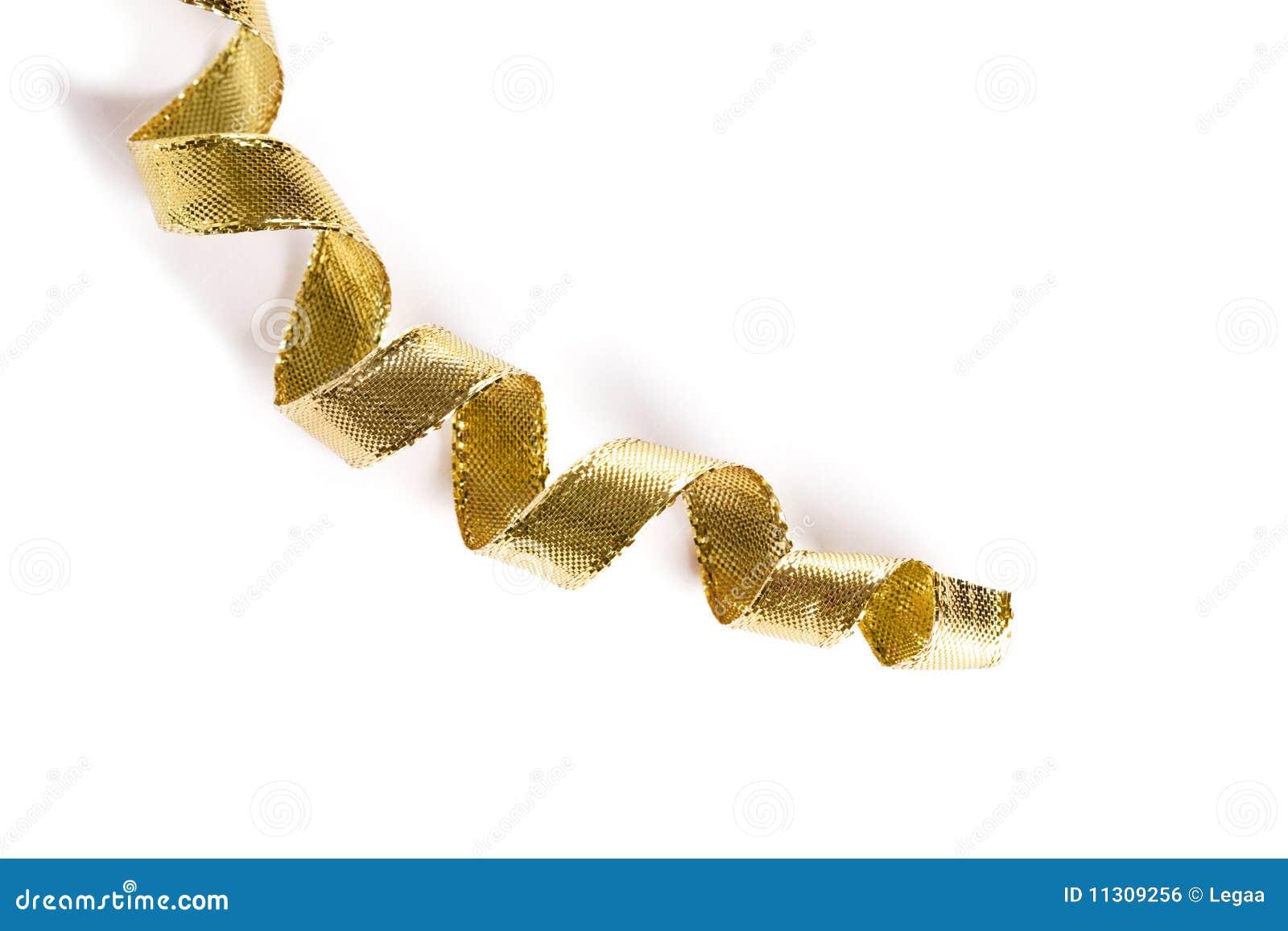 Goldene Rotationfarbbänder auf weißem Hintergrund