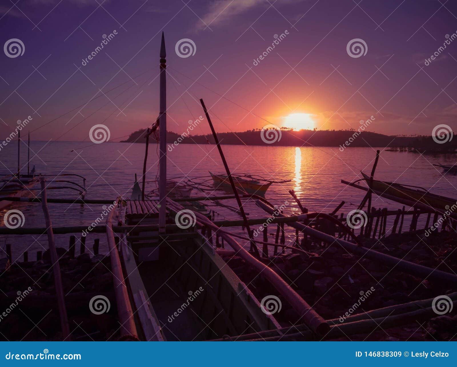 Goldene Stunde durch das Ufer