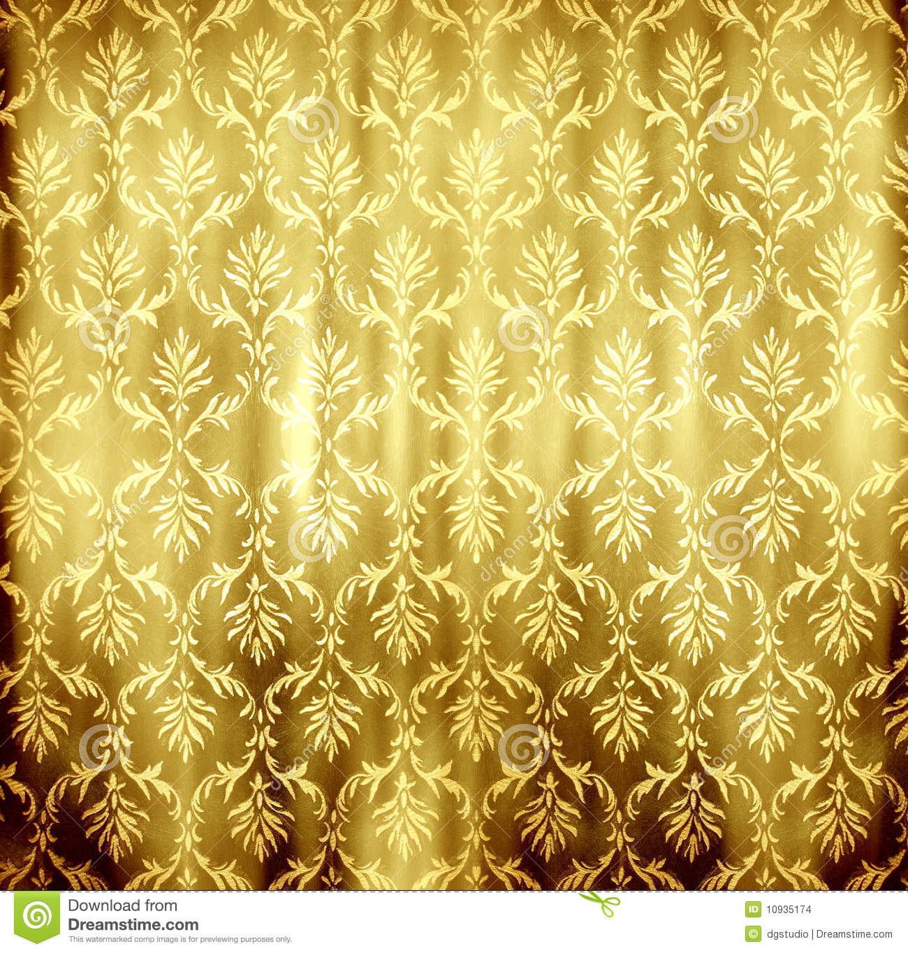 Goldene tapete stock abbildung illustration von romanze for Goldene tapete