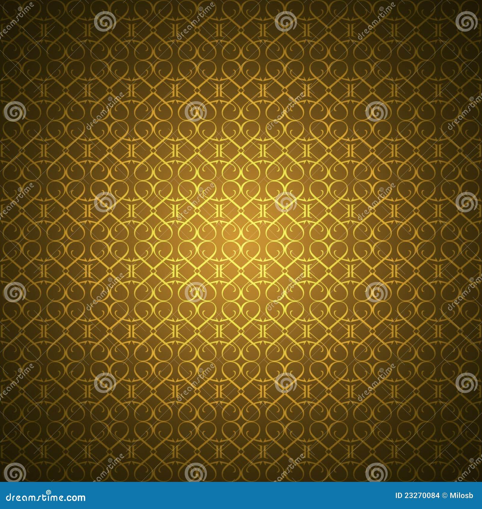 Tapete mit heart shaped verzierungen in der goldfarbe hinzugefügte