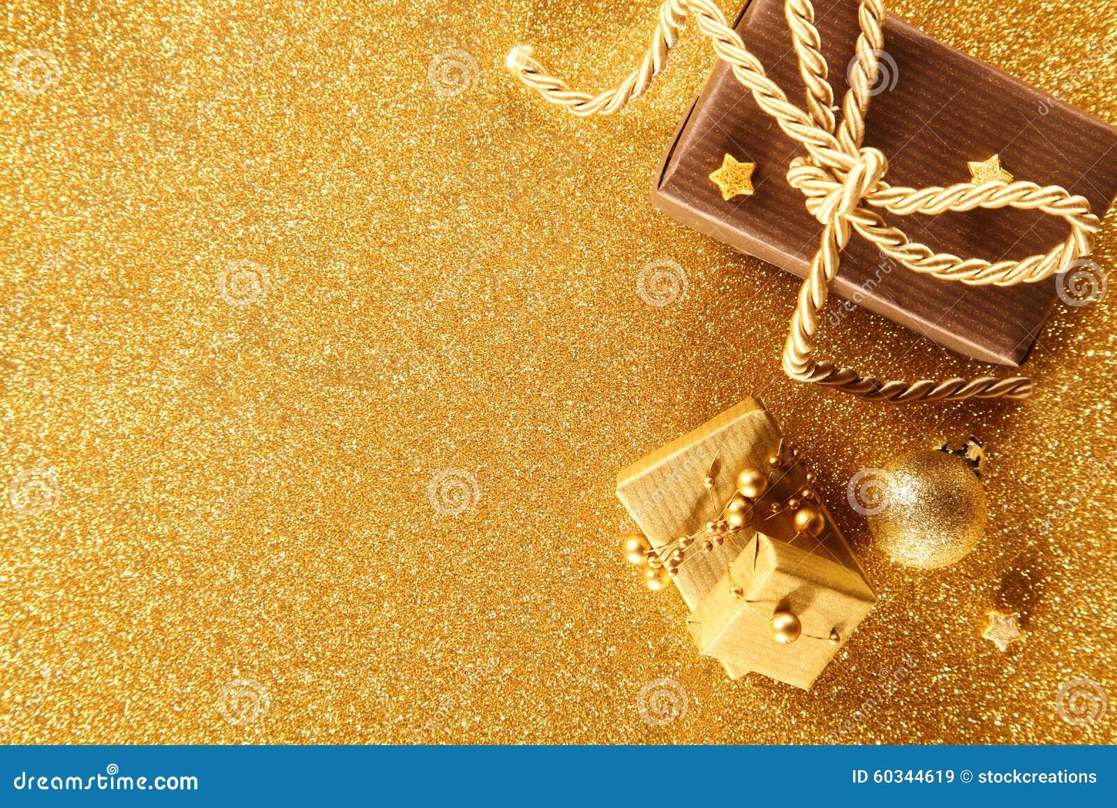 Goldene Weihnachtsgeschenkgrenze