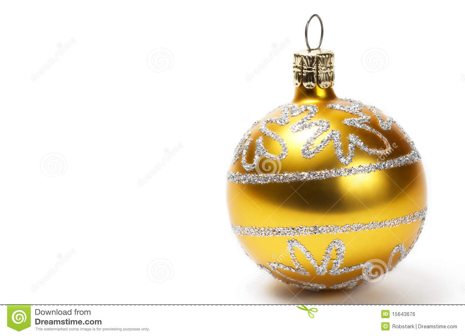 goldene weihnachtskugel mit funkelnsternen stockfoto bild von funkeln feiertag 15643676. Black Bedroom Furniture Sets. Home Design Ideas