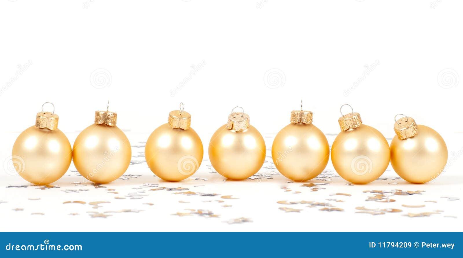Goldene weihnachtskugeln stockbild bild von decorate for Weihnachtskugeln bilder
