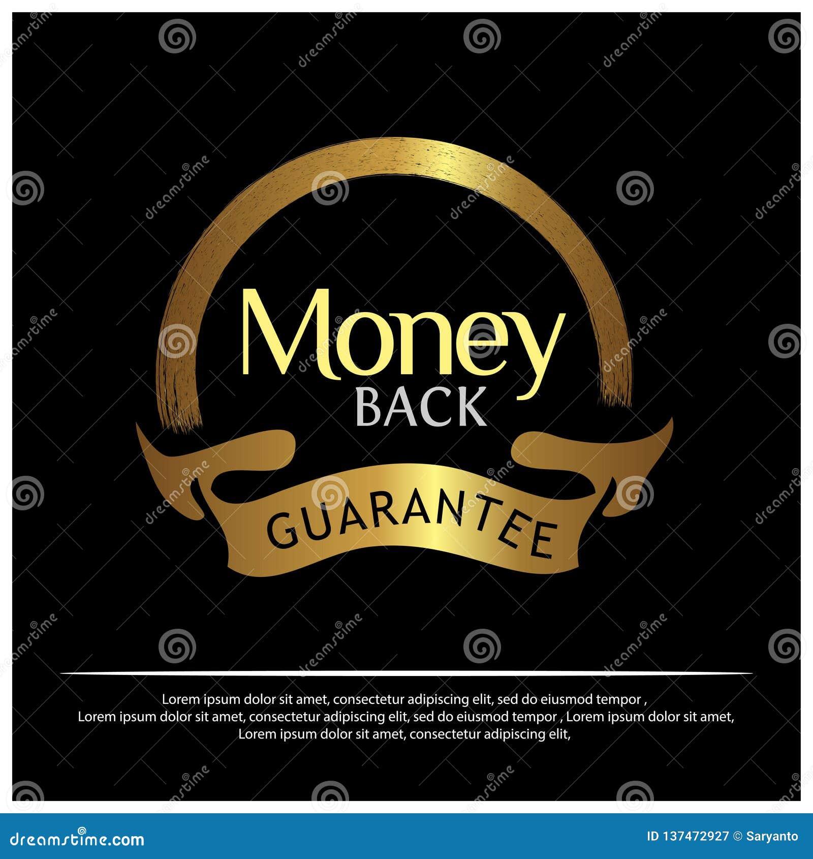 Goldener Aufkleber der Geld-Rückseite auf weißem Hintergrund - Vektor