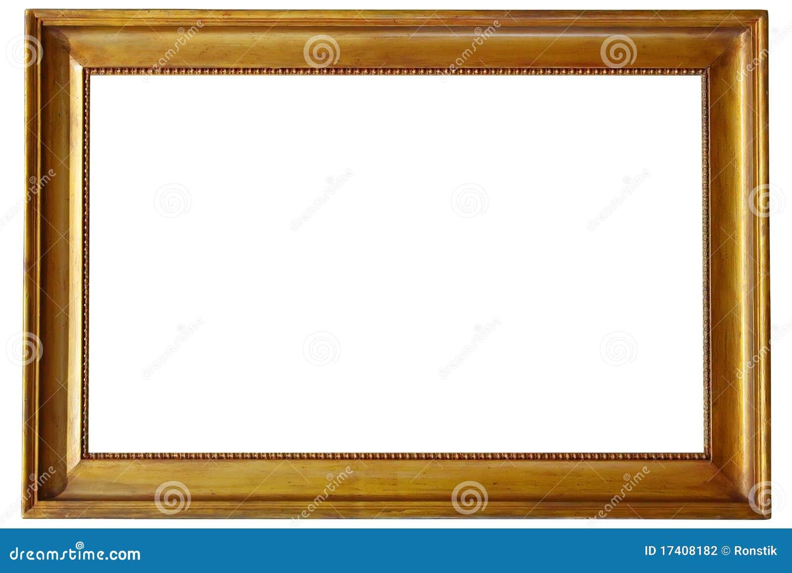 goldener bilderrahmen stockfoto bild von geschnitzt 17408182. Black Bedroom Furniture Sets. Home Design Ideas