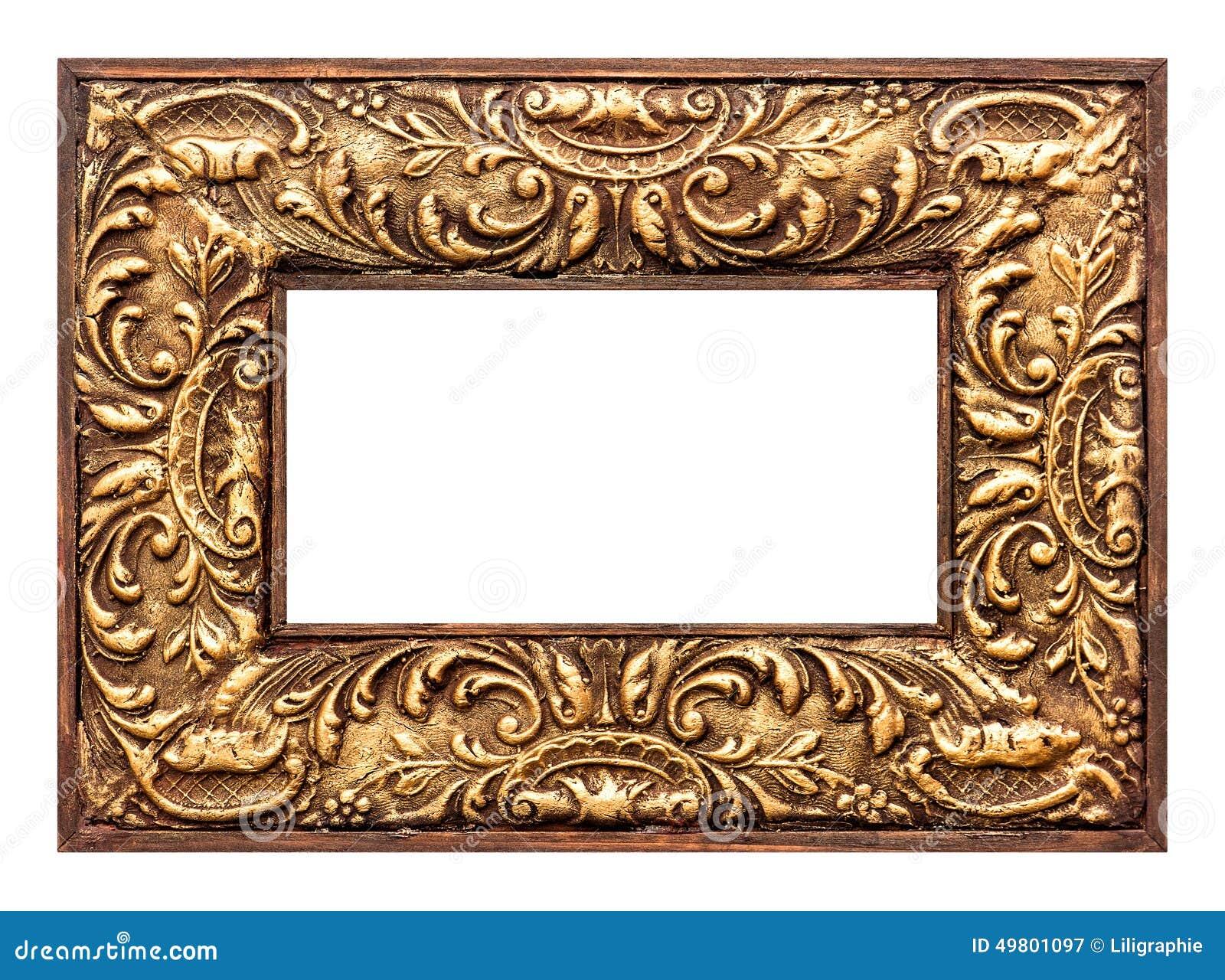 Goldener Bilderrahmen Der Antiken Barocken Art Geometrische ...