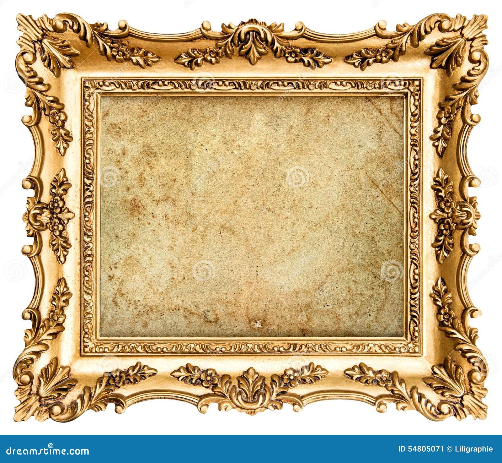 Goldener Bilderrahmen Der Barocken Art Mit Segeltuch Stockbild ...