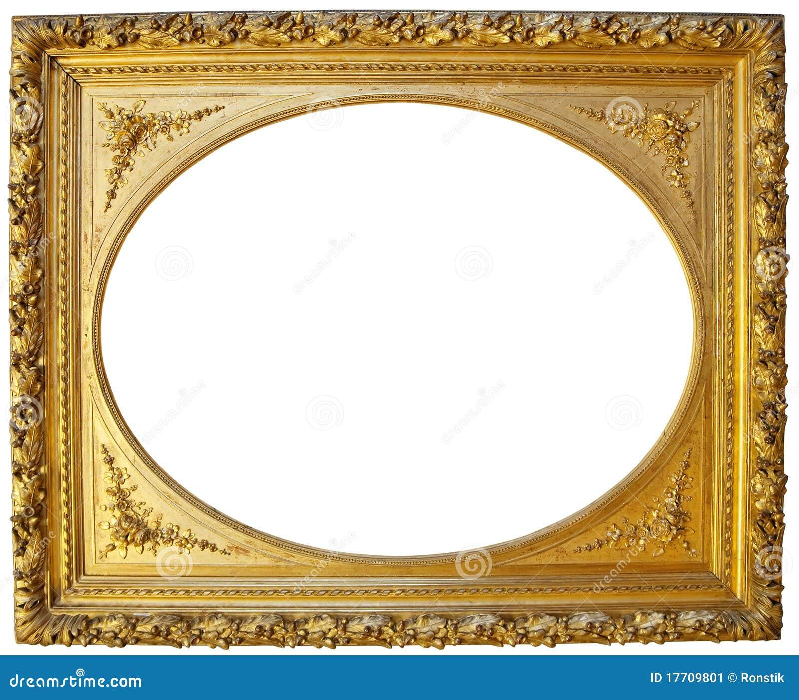 Oval vintage gold frame 5860522 - emma-stone.info