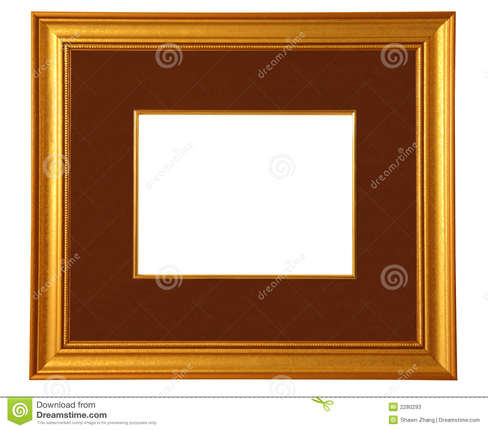 Goldener Bilderrahmen Mit Matte Stockbild - Bild von möglichkeit ...