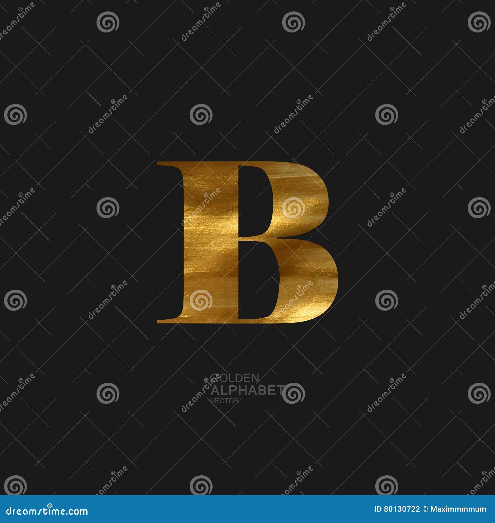 Goldener Buchstabe B