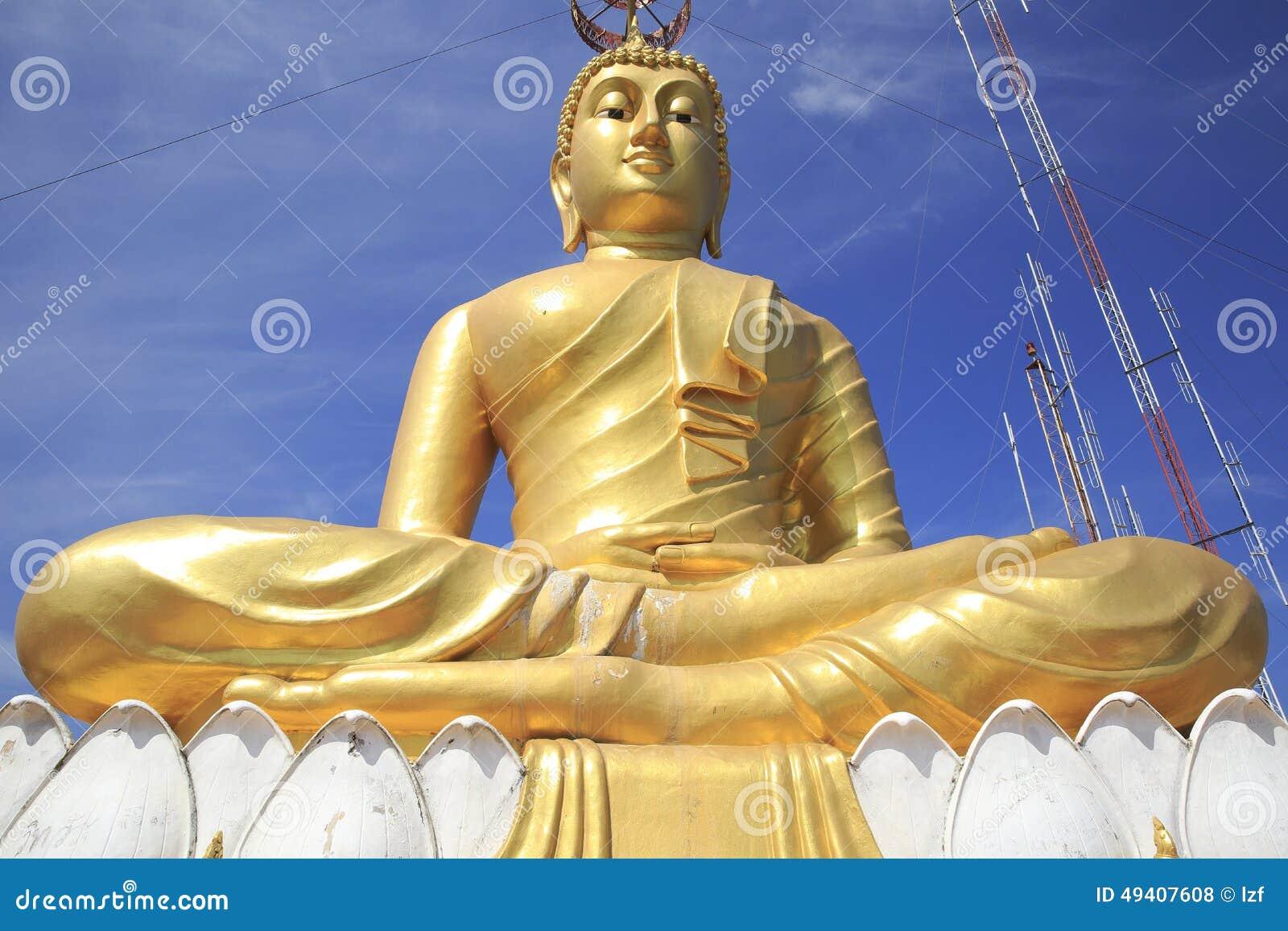 Download Goldener Buddha stockfoto. Bild von abschluß, lotos, abbildung - 49407608