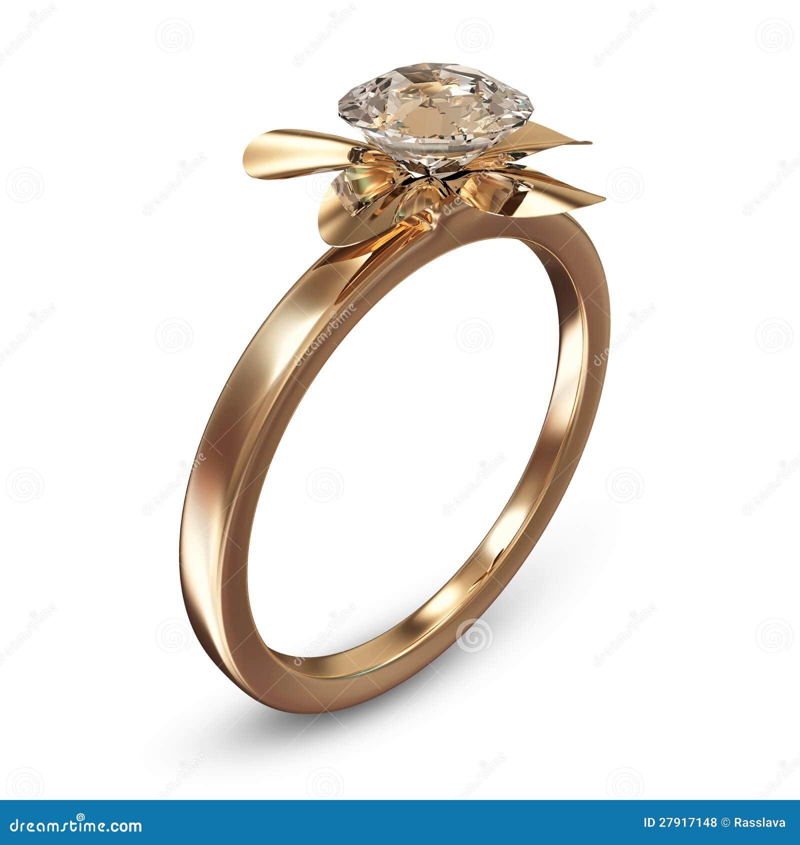goldener ehering mit diamanten lizenzfreie stockfotos bild 27917148. Black Bedroom Furniture Sets. Home Design Ideas