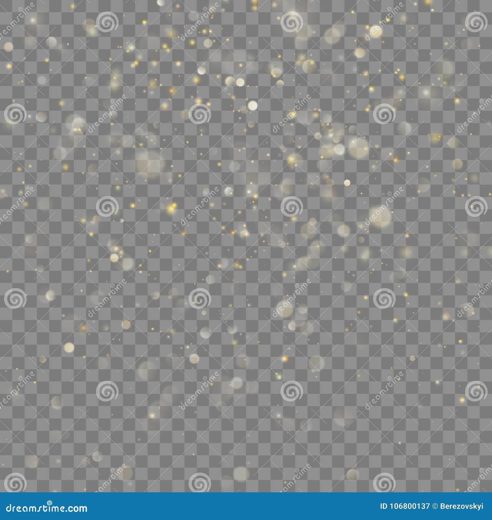 Download Goldener Funkeln Weihnachtseffekt Vektor ENV 10 Vektor Abbildung - Illustration von defocus, magie: 106800137