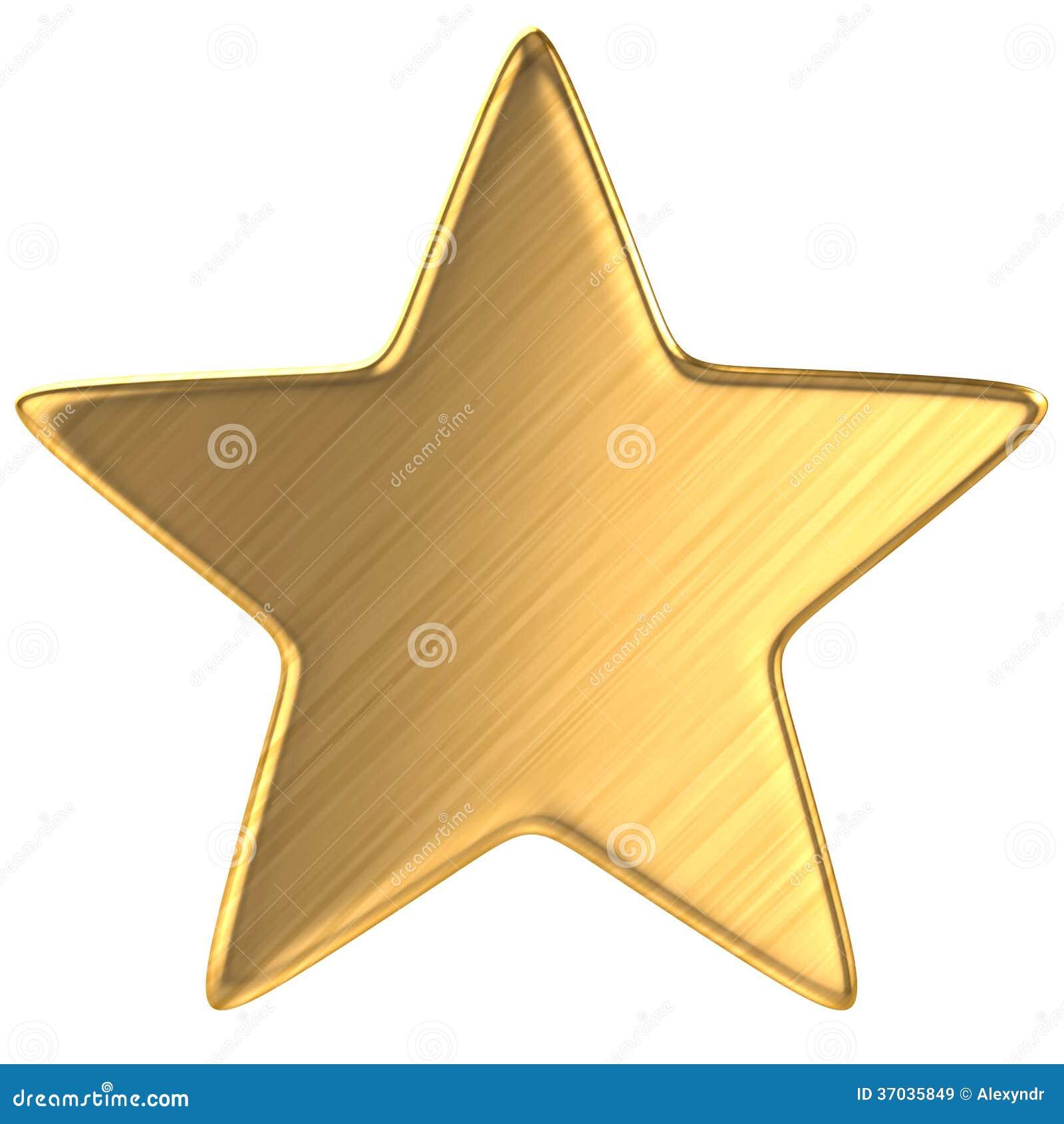 goldener stern lokalisiert stock abbildung bild von. Black Bedroom Furniture Sets. Home Design Ideas