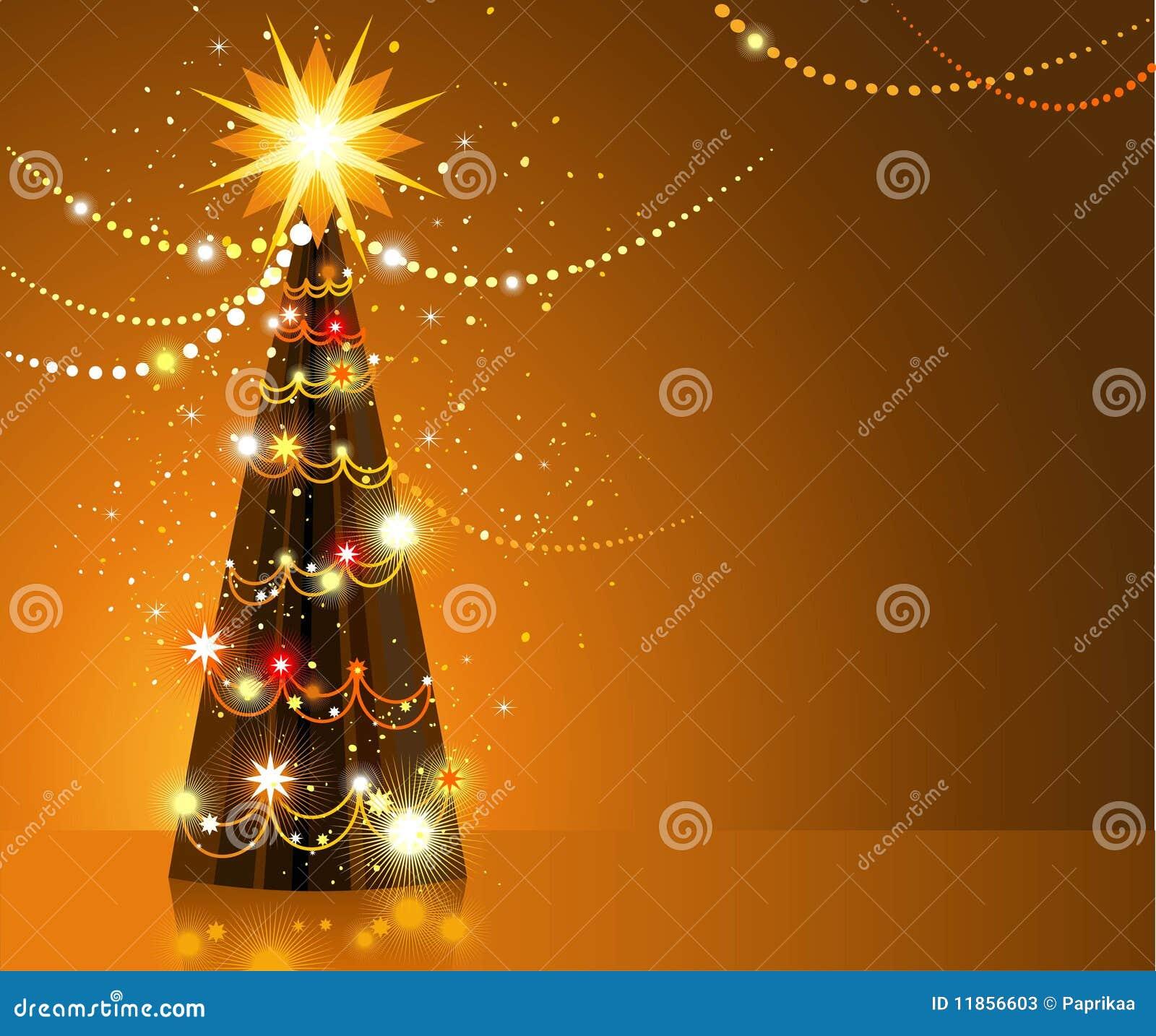 goldener weihnachtsbaum stockfotos bild 11856603. Black Bedroom Furniture Sets. Home Design Ideas