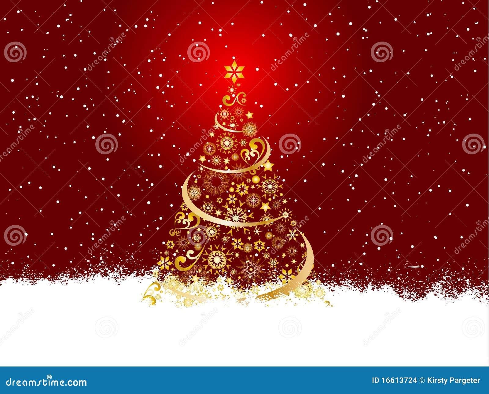 goldener weihnachtsbaum stockbilder bild 16613724. Black Bedroom Furniture Sets. Home Design Ideas