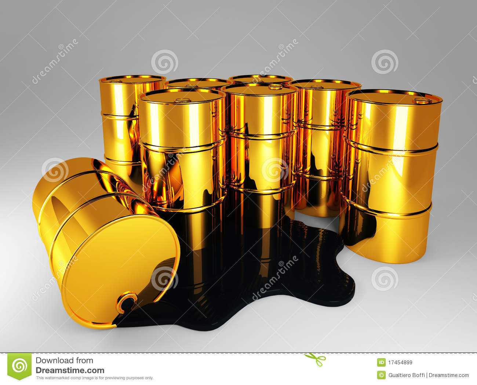 Goldenes Barrel Erdöl