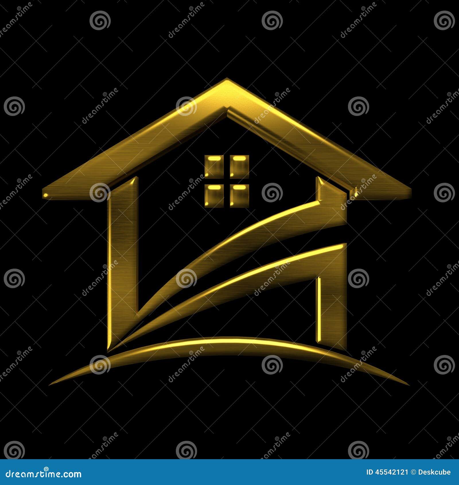 Goldenes Haus-Logo Promigestaltungselement