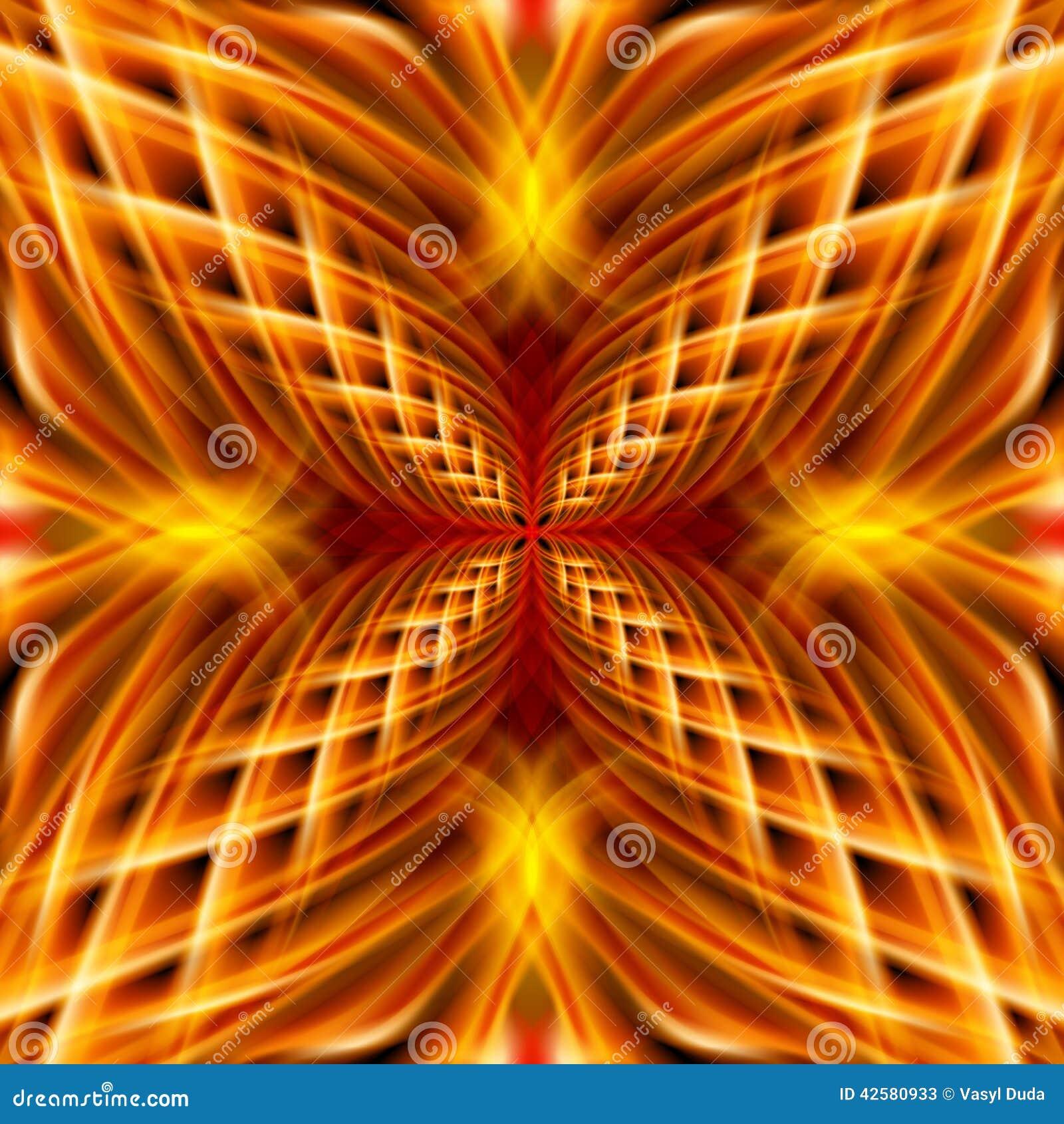 Goldenes Muster auf dem schwarzen Hintergrund