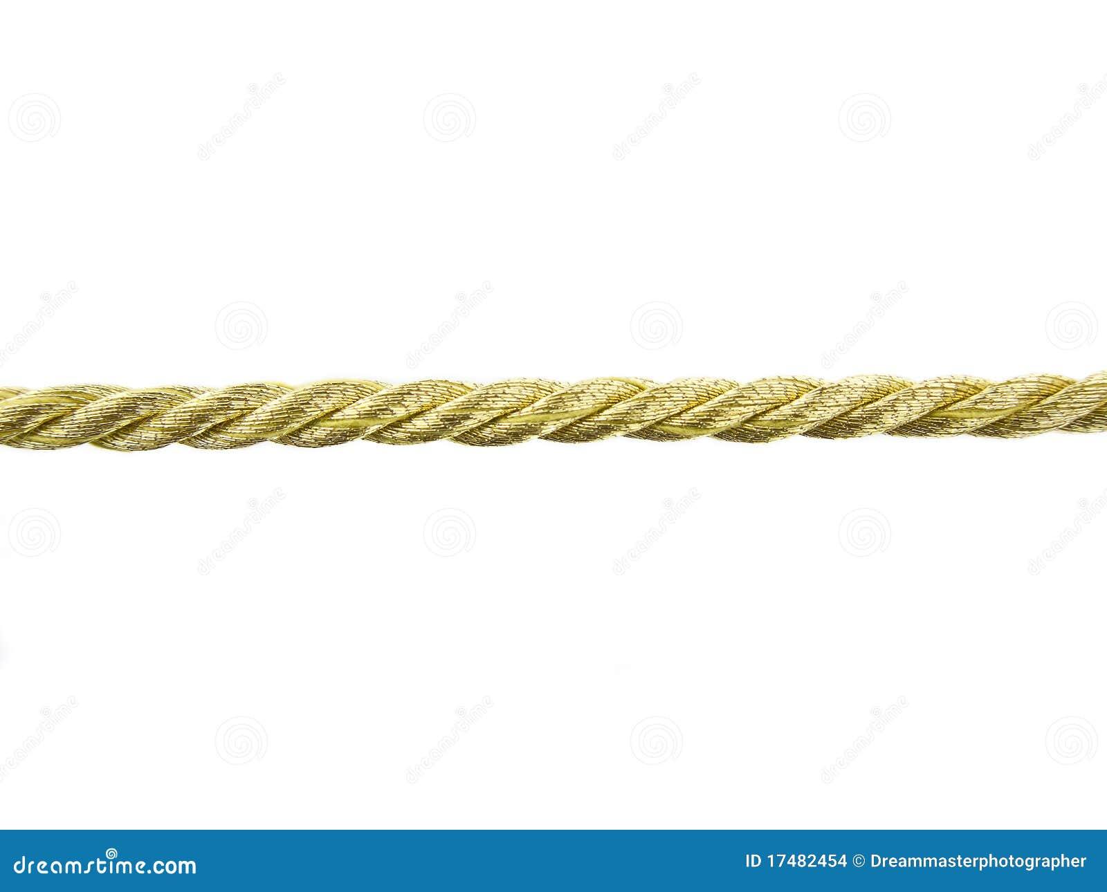 Goldenes Seil stockfoto. Bild von getrennt, nachricht ...