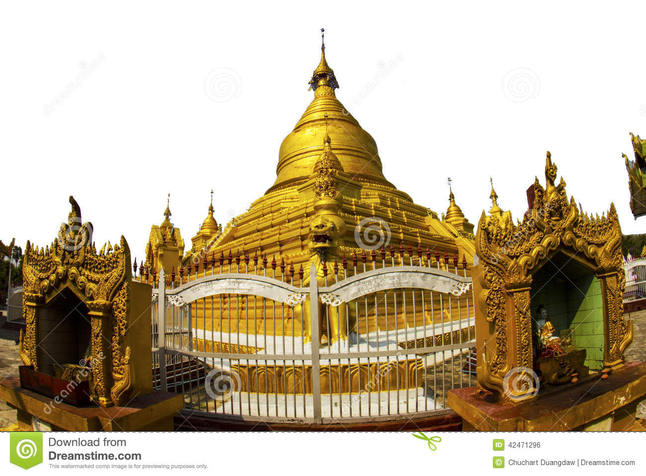 Goldenes stupa in Mandalay