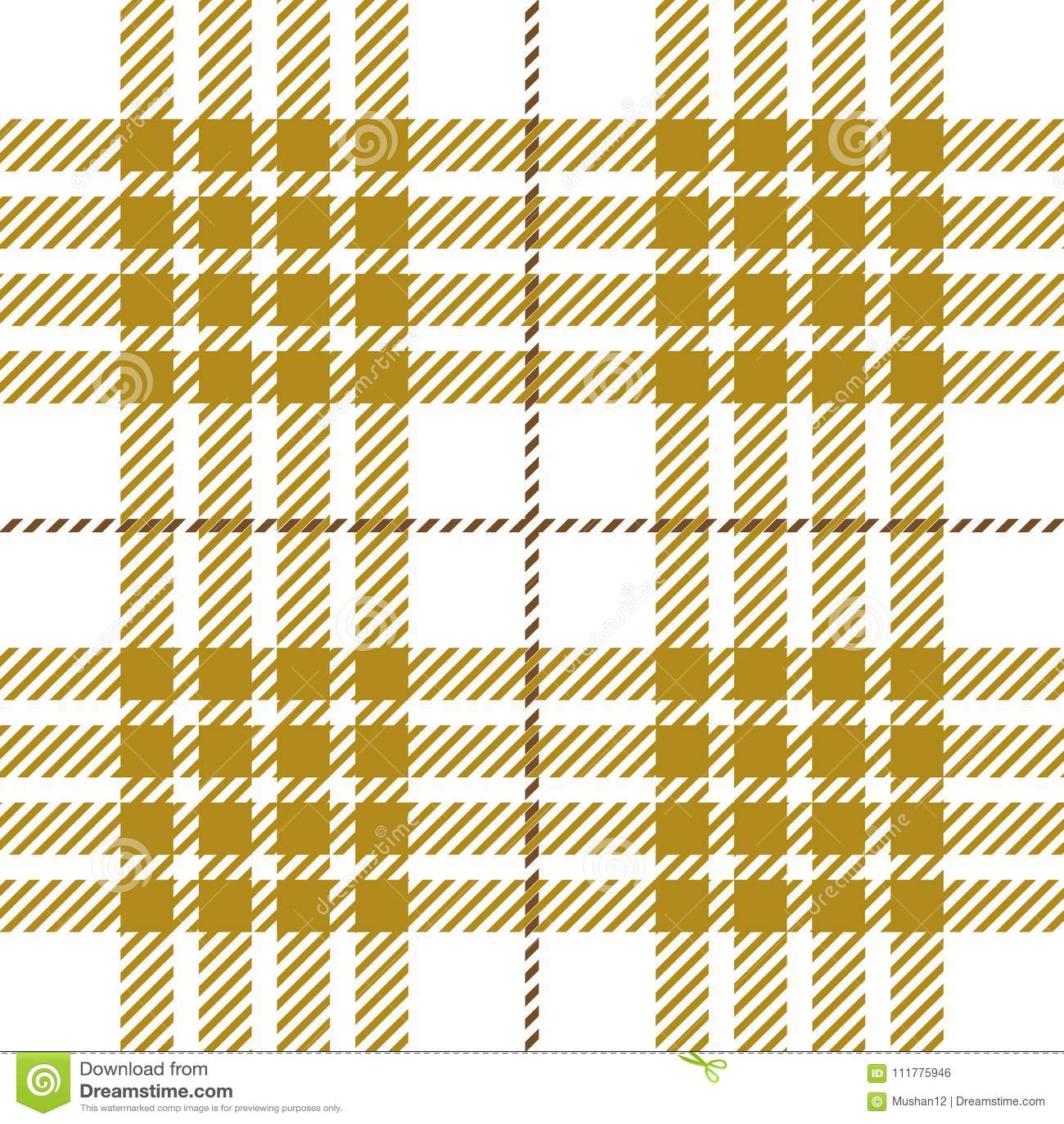 Goldenrod Tartan Plaid Seamless Pattern Design