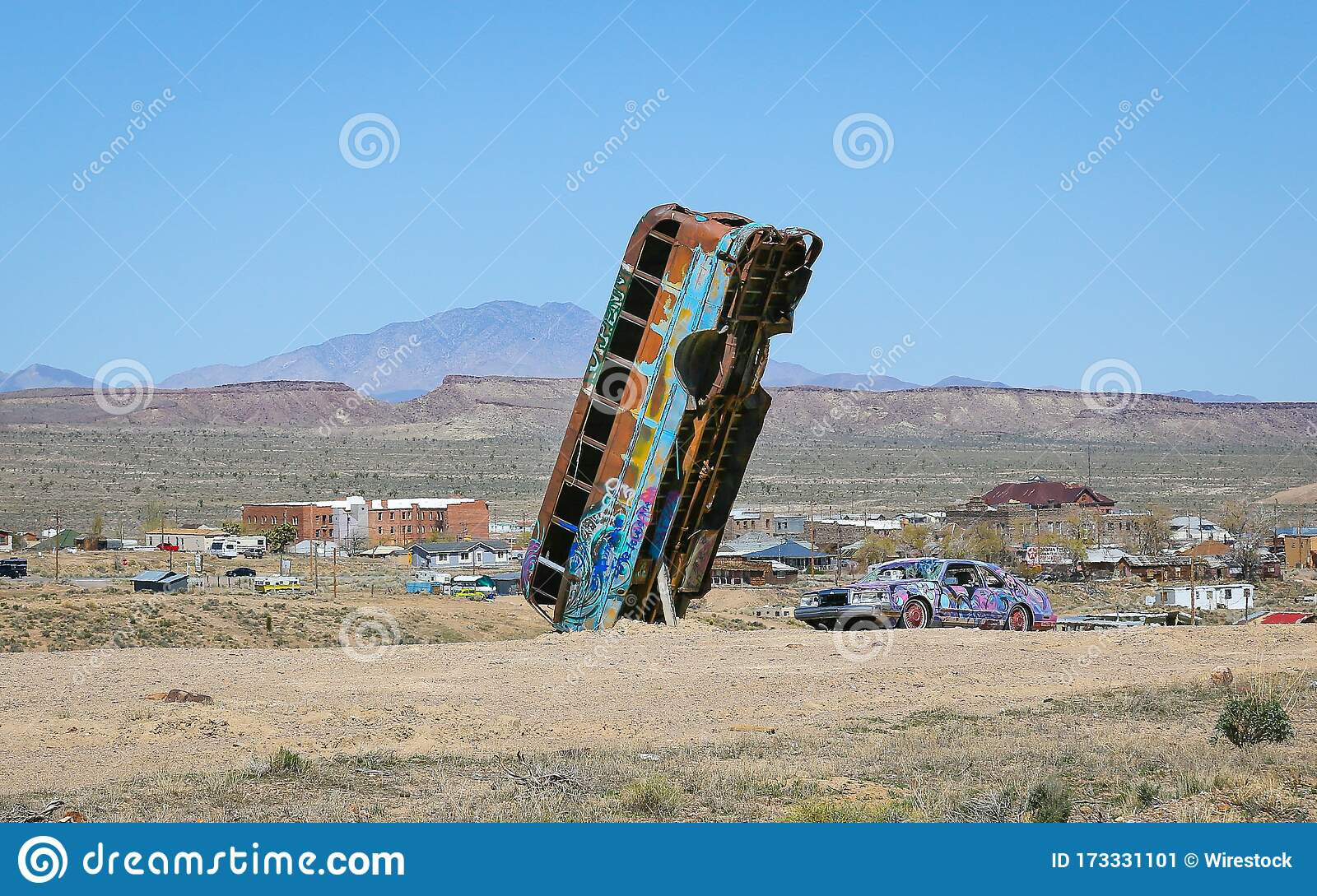 Goldfield Nevada S International Car Forest Of The Last Church Stock Image Image Of Chad Installation 173331101