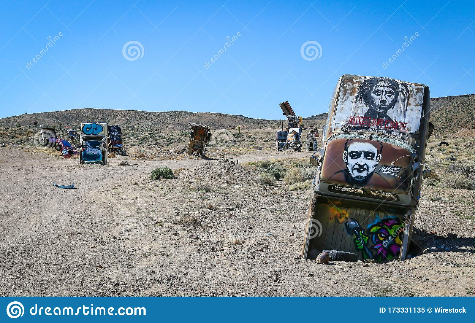 Goldfield Nevada S International Car Forest Of The Last Church Editorial Image Image Of Chad Goldfield 173331135