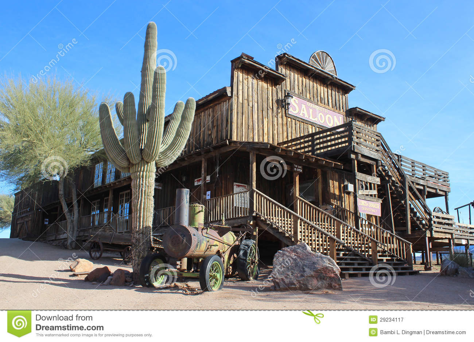 Download Goldfield, o Arizona fotografia editorial. Imagem de deserted - 29234117