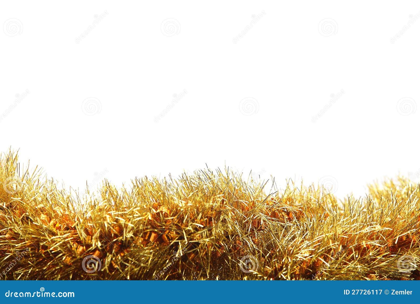 Goldfilterstreifen auf weißem Hintergrund