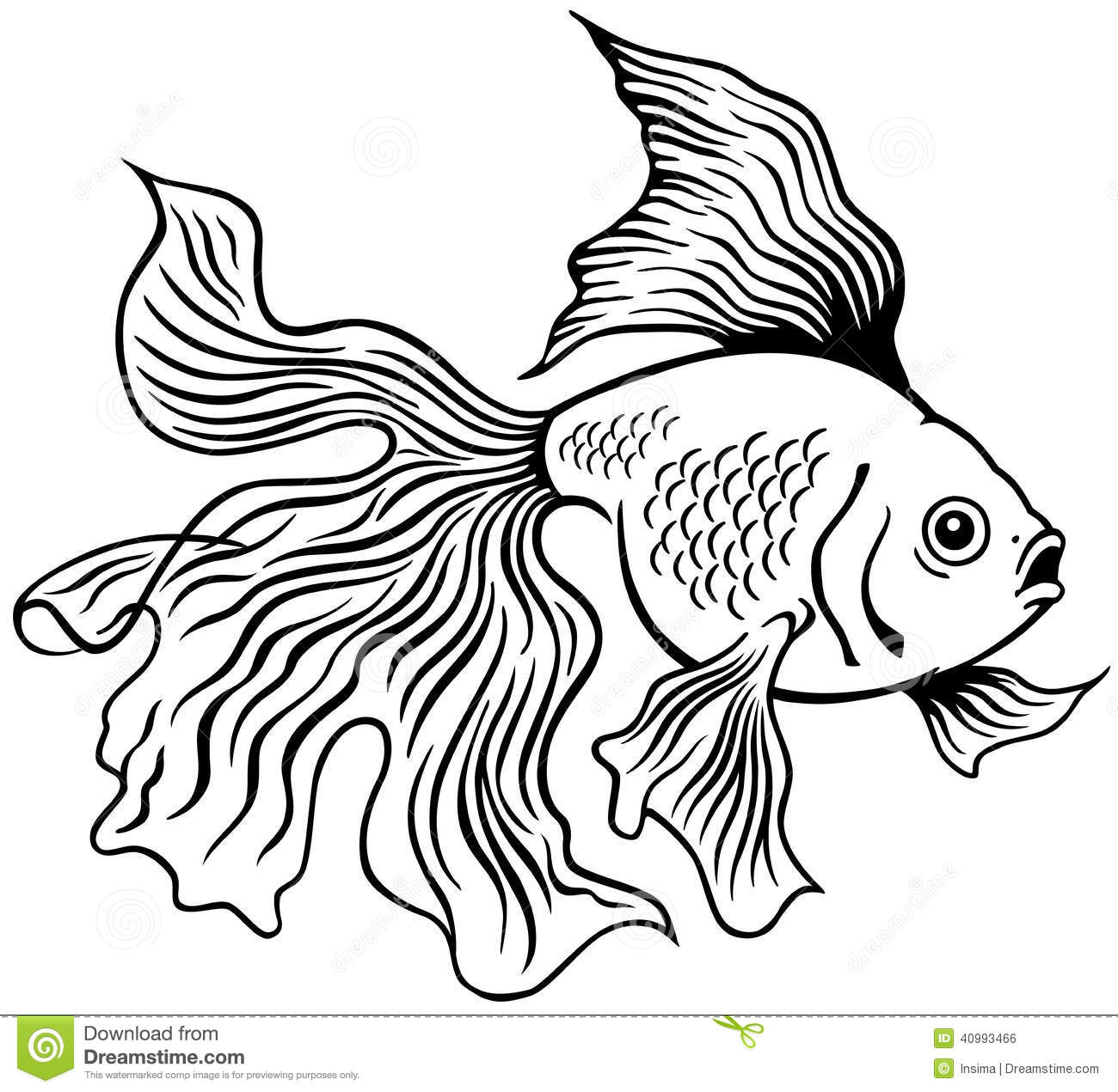 Goldfish Clip Art Black And White Goldfish black white