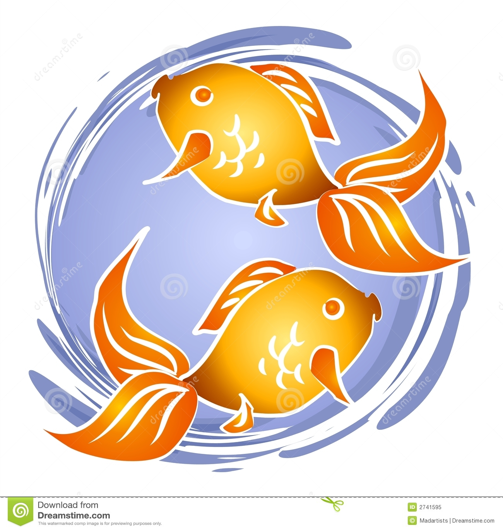 Goldfish-Fisch-Schüssel-Klipp-Kunst Stock Abbildung - Illustration ...