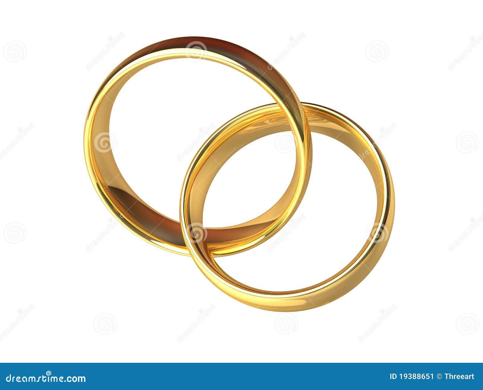 Goldhochzeits Ringe Zusammen Stockbild