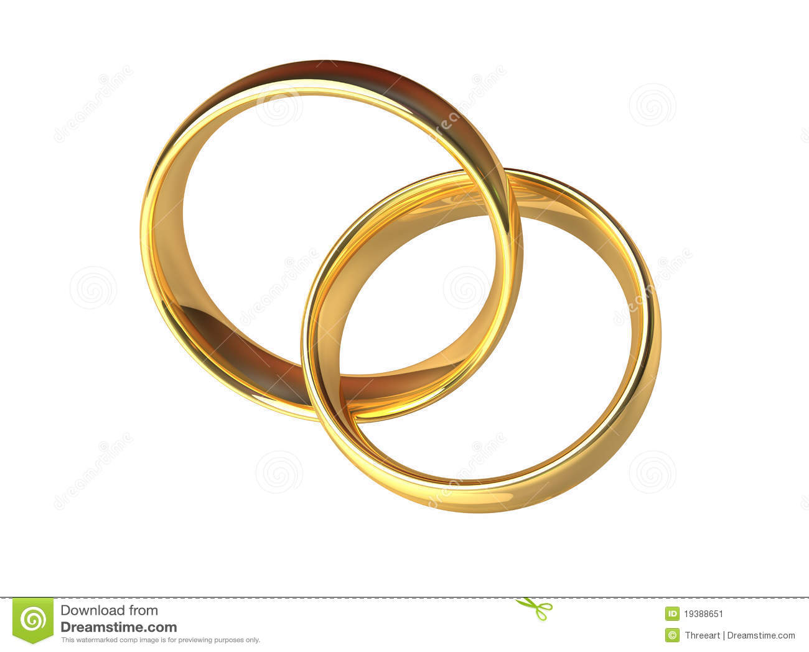 Two Interlocked Wedding Rings Png