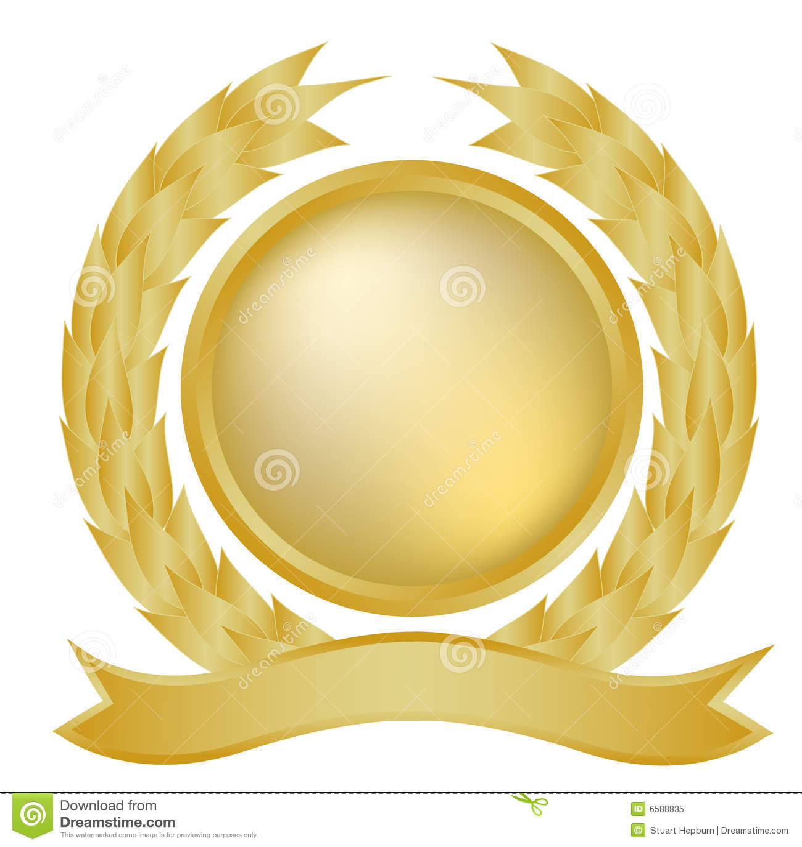 Goldlorbeer und -fahne